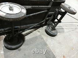 Grand Chariot À Bagages Heavy Duty Vintage Industrial MILL Trolley Railway 60 X 30