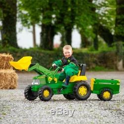 Grand Enfants Tracteur Fermier Remorque Chargeur Enfants Ride On Heavy Duty Truck Cadeau