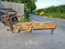 Heavy Duty 10 Tonnes Chariot Élévateur Grue De Levage Jib Crochet Telehandler Chantier Naval 650 £ + Tva