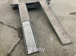 Heavy Duty Beavertail Flat Bed Transporter Trailer Car, Van, Usine, Tracteur