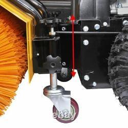 Heavy Duty Chasse-neige / Sweeper Set Avec Déchaumeurle À Essence Lame 6.5 HP 196cc
