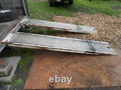 Heavy Duty Et Aluminium Checker Steel Plate Loading Ramps Tracteur Digger