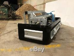 Heavy Duty Galvanisé Skid Steer Slurry Cour Scraper Rss Pusher £ 845 + Tva