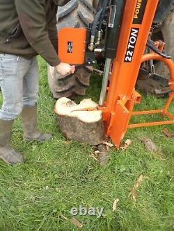Heavy Duty Montage Sur Tracteur 22 Tonnes Fendeuse / Traitement Du Bois / Forestier