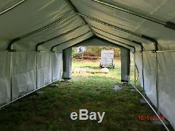 Heavy Duty Weideunterstand L 3,7m X 6m X 2,5m Weidezelt Lama Alpaka, Etc. Top