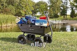 Jardin Chariots Et Chariots Big Wheels Utility Wagon Cargo Tracteur Débardage Remorque