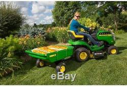 John Deere 450 Lb 7 Pi. Ft. Tractées Utility Poly Panier Riding Tracteur Faucheuse