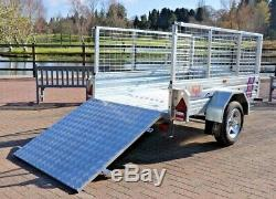 Kirby Trailers De Caged Ramped Heavy Duty Galvanisé Utility Box Remorque Voiture