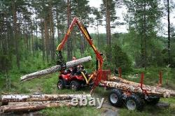 Kranman T1750 Vtt Forestier Remorque Forestière. £ 10450 + Tva Et Frais Ebay