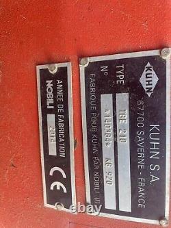Kuhn Tbe 210 Offset 2.1m Très Lourd Flail Verge Topper Topper Tower Shredder
