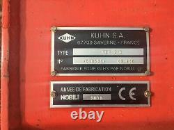 Kuhn Vkm 210 Tracteurs Monté Fouleau Lourd Tour Pto Avec Déplacement Latéral Pas De Tva