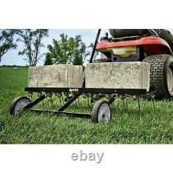 Lawn Dethatcher Rake Tow Behind Tractor Mower Scarifier Lourd 40 Aux États-unis Nouveau