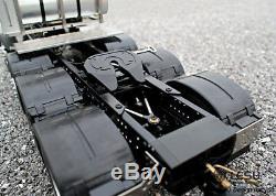 Lesu 1/14 Benz 3363 Rc 88 En Métal Robuste Châssis 4 Essieux Modèle Tracteur Camion