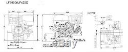 Lifan 13hp Démarreur Électrique Lf390qe-pro Moteur Robuste Remplace Honda Gx390 1