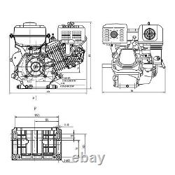Lifan 188f-c 25mm Moteur À Essence 12.9hp Plaque Vibratoire Forestière Lourde