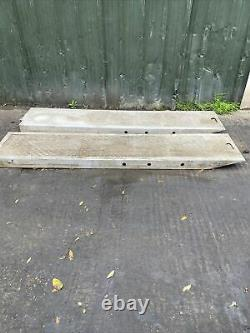 Lourdement Aluminium Chequer Plate Charge Rampes Tracteur Digger Cars