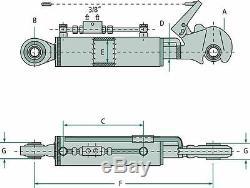 Maillon Supérieur Hydraulique À Usage Intensif Cat. 2 Bras / Boules De Liaison À 3 Points Pour Tracteur