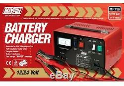 Maypole Heavy Duty Acier 12 Amp 12v / 24v Voiture Van Tracteur Chargeur De Batterie Mp716