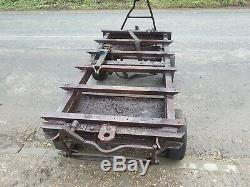 Moteur Stationnaire, Recherche Grange, Tracteur Vintage, Heavy Duty Chariot 4 Restauration