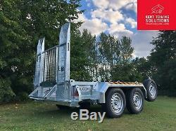 New Nugent Heavy Duty Usine P2813s Remorque 9'2 X 4'4 Rampe Layon, 2700kg