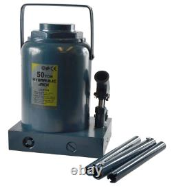 Nouveau 50 Ton Tonne Hydraulic Bottle Jack Industrial Heavy Duty Tractors Hgv Etc