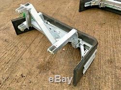 Nouveau Galvanized Push / Pull Robuste Yard Muck Brosse Tracteur Monté, Boue