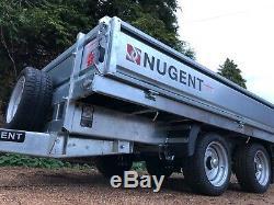 Nouveau Nugent Heavy Duty À Plat F3117h Ridelles Remorque 10'2 X 5'7 3500kg Mgw