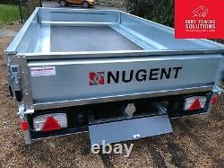 Nouveau Nugent Heavy Duty Flatbed F3117h Dropsides Mesh Trailer 10'2 X 5'7 3500kg