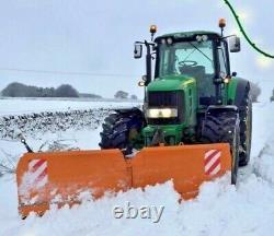 Nouveau Robuste Tracteur Hydraulique Montée Chasse-neige, Saleuse, Charrue, Sel, Jcb