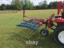 Opico Herbe Harrow 2 Mètres Monté Robuste Pour Tracteur Compact, Non Pliable