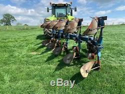 Overum DX 590 H 5 Furrow Réversible Heavy Duty Plough Hydraulique Remise À Zéro Automatique