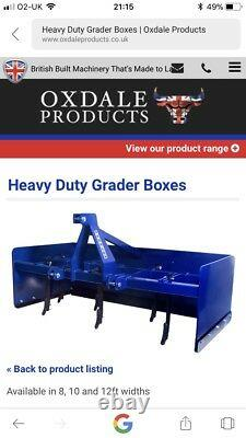 Oxdale Heavy Duty Grader Box 10ft Oxdale Heavy Duty Grader Box 10ft Oxdale Heavy Duty Grader Box 10ft Oxdale
