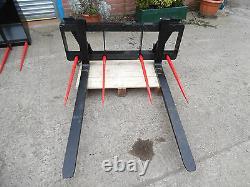 Palette Fourches 2 Tonnes Tracteur / Télescopique Avec 2 Tines Euro 8 Supports