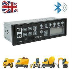 Pelle De Voiture Stereo Radio Heavy Duty Bluetooth Usb Aux MIC Pour Tracteur De Camion