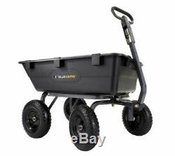 Poly Dump Cart 1 200 Lb, Pneus Pneumatiques Robustes De 13 Po.