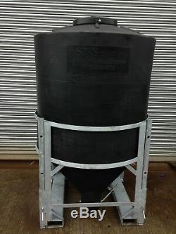 Portable Ton Repas Bin (1000 Kg) En Polyéthylène Robuste Avec Cadre Galvanisé