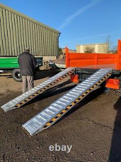 Rampes De Remorque Lourdes De 6 Tonnes (pair) De Jacksta Plant Tractor Digger Uk Stock