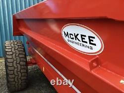 Remorque À 8 Tonnes Mckee Remorque À Bascule Remorque Muck 5450 £ + Vat