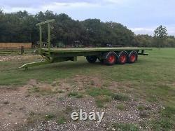 Remorque Agricole 32 Pied Plat Heavy Duty Air Freins Suspension Pneumatique