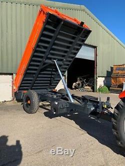 Remorque Agricole 4, 6, 8 Et 10 Ton Bennes, Côté Abaissable Remorques Heavy Duty Qualité