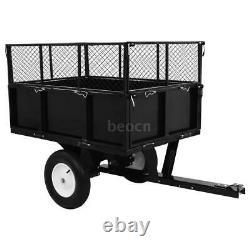 Remorque De Basculement Pour Tracteur De Pelouse 300 KG Charge Chariot Lourd De Jardin K2z0