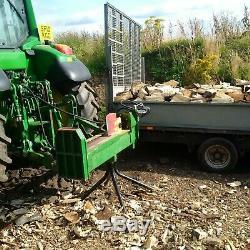 Robuste, Monté Sur Tracteur, 24 Tonnes, Fendeuse De Bûches
