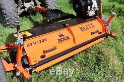 Rock Machines Atv120r Heavy Duty Vtt Paddock Terrain Broyeur À Axe Horizontal