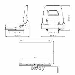 Siège De Suspension Universelle De Qualité Chariot Élévateur/dumper/tondeuse/tracteur Pvc Lourd