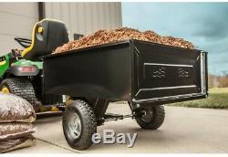 Steel Dump Panier Tracteur Tondeuse Atv Garden Brouette Haul Agri-fab Remorque De Jardin