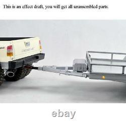T006 Heavy Duty Flatbed Trailer Ramps Lighting 1/10 Cross Rc Car Model Truck Kit