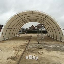 Tente De Dôme De Bâtiment En Acier Galvanisée Par Tunnel Poly De Polytunnel Résistant De 65ft