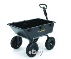 Tondeuse Autoportée Cour Dump Panier Heavy Duty Remorque Utilitaire Brouette Jardin Wagons