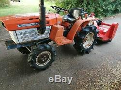 Tracteur Compact 4x4 Kubota, Entretenus Et Testés Lourds Avec 1.2m De Débroussailleuse