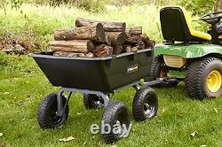 Tracteur De Pelouse Dump Panier Jardin Tondeuse Utilitaire Wagons Brouette Remorque